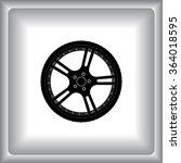 car wheel sign icon  vector... | Shutterstock .eps vector #364018595