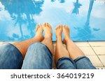 Family Pair Of Legs Near The...