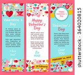 happy valentine day invitation... | Shutterstock .eps vector #364020815