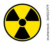 radiation round sign isolated... | Shutterstock . vector #364021979