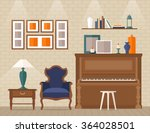 living room with furniture and... | Shutterstock .eps vector #364028501