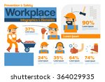 vector infographics safety and... | Shutterstock .eps vector #364029935