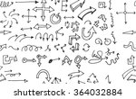 hand drawn doodle seamless... | Shutterstock .eps vector #364032884