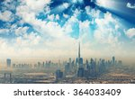 Beautiful Skyline Dubai Surrounded By - Fine Art prints