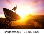 silhouette of satellite dish | Shutterstock . vector #364034321