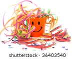 party cup with streamers and... | Shutterstock . vector #36403540
