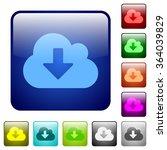 set of cloud download color...