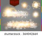 glow golden light spark set on ...   Shutterstock .eps vector #364042664