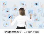 back view of business woman... | Shutterstock . vector #364044401