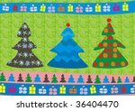 new year trees | Shutterstock .eps vector #36404470