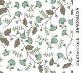 cornflower pattern. vector... | Shutterstock .eps vector #364046039