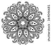 vector henna tattoo mandala.... | Shutterstock .eps vector #364046681