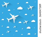 abstract white planes and... | Shutterstock .eps vector #364047389
