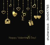 greeting card for valentines... | Shutterstock . vector #364047785