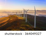 wind turbines in the oiz eolic... | Shutterstock . vector #364049327