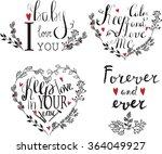 valentines day vintage... | Shutterstock .eps vector #364049927