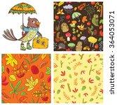 fall season set. chestnut...   Shutterstock .eps vector #364053071