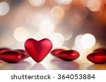 Red Valentine Hearts With Boke...