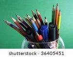 pencil background | Shutterstock . vector #36405451