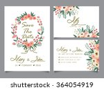 wedding invitation card... | Shutterstock .eps vector #364054919