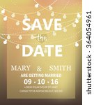 gold wedding invitation card ... | Shutterstock .eps vector #364054961