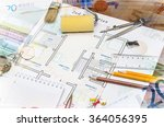 architectural plan of the house  | Shutterstock . vector #364056395