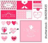scrapbook design set  ...   Shutterstock .eps vector #364058435