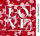 love  valentines day vintage... | Shutterstock .eps vector #364066691