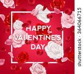 valentines day vintage... | Shutterstock .eps vector #364066715