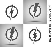 lightning. set of vector logos. ... | Shutterstock .eps vector #364070699