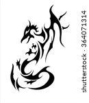 black dragon | Shutterstock .eps vector #364071314