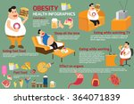 fat man and obesity elements... | Shutterstock .eps vector #364071839