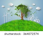 concept of eco friendly and... | Shutterstock .eps vector #364072574