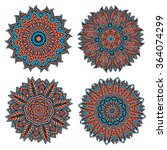 decorative circular patterns of ... | Shutterstock .eps vector #364074299