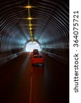 cas are in the long road tunnel | Shutterstock . vector #364075721