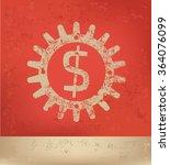 dollar design on red background ...