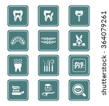 dental care tools and... | Shutterstock .eps vector #364079261