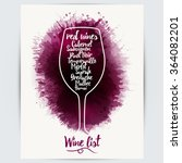 design template list  wine... | Shutterstock .eps vector #364082201