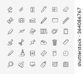outline web icon set   office... | Shutterstock .eps vector #364086767