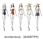 bikini catwalk | Shutterstock .eps vector #364087991