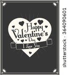 happy valentine's day. love.... | Shutterstock .eps vector #364090601