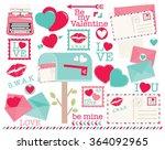 love letters   Shutterstock .eps vector #364092965