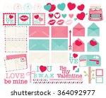 valentine mailbox | Shutterstock .eps vector #364092977
