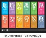 creative calendar 2017   grid... | Shutterstock .eps vector #364098101