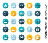 vector set square flat icons... | Shutterstock .eps vector #364098269
