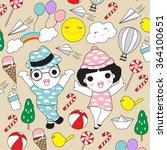 wonderful children's day... | Shutterstock .eps vector #364100651