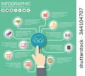 part of the report with logo... | Shutterstock .eps vector #364104707