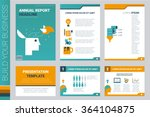 annual report book cover and... | Shutterstock .eps vector #364104875