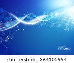 blue background with dna. | Shutterstock .eps vector #364105994