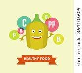 funny cartoon smiling bell... | Shutterstock .eps vector #364106609